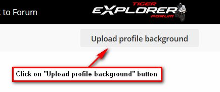 Upload Profile Background